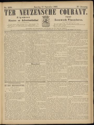 Ter Neuzensche Courant. Algemeen Nieuws- en Advertentieblad voor Zeeuwsch-Vlaanderen / Neuzensche Courant ... (idem) / (Algemeen) nieuws en advertentieblad voor Zeeuwsch-Vlaanderen 1897-09-11