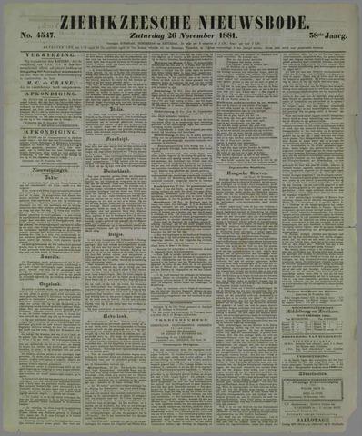Zierikzeesche Nieuwsbode 1881-11-26
