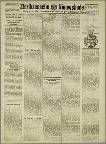 Zierikzeesche Nieuwsbode 1924-01-04