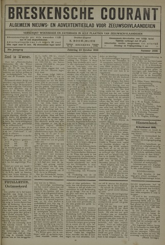 Breskensche Courant 1920-10-23