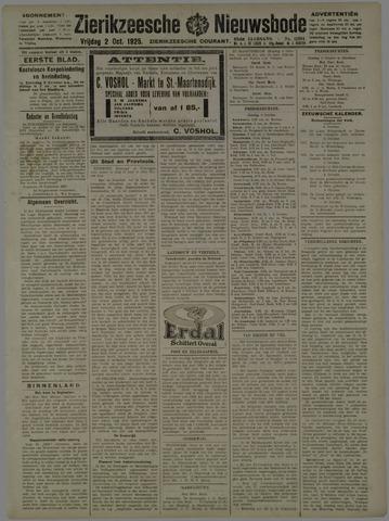 Zierikzeesche Nieuwsbode 1925-10-02