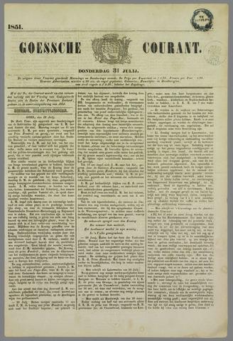 Goessche Courant 1851-07-31