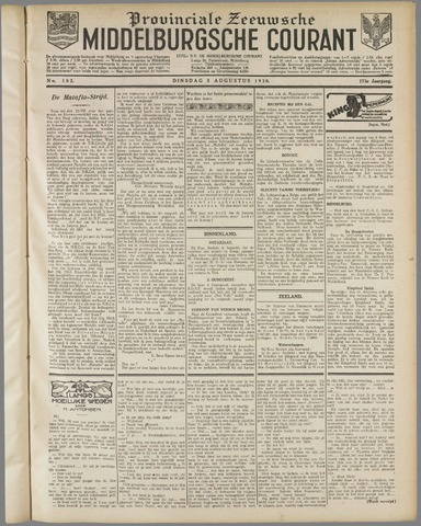 Middelburgsche Courant 1930-08-05
