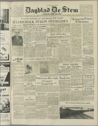de Stem 1953-03-06