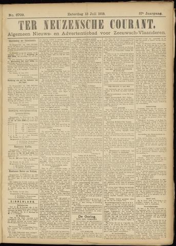 Ter Neuzensche Courant. Algemeen Nieuws- en Advertentieblad voor Zeeuwsch-Vlaanderen / Neuzensche Courant ... (idem) / (Algemeen) nieuws en advertentieblad voor Zeeuwsch-Vlaanderen 1918-07-13