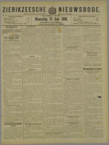 Zierikzeesche Nieuwsbode 1916-06-21