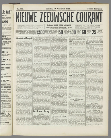 Nieuwe Zeeuwsche Courant 1914-11-10