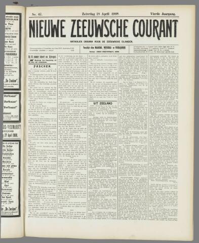 Nieuwe Zeeuwsche Courant 1908-04-18