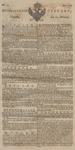 Middelburgsche Courant 1776-02-27