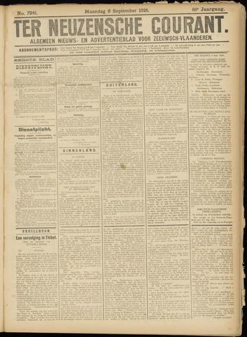 Ter Neuzensche Courant. Algemeen Nieuws- en Advertentieblad voor Zeeuwsch-Vlaanderen / Neuzensche Courant ... (idem) / (Algemeen) nieuws en advertentieblad voor Zeeuwsch-Vlaanderen 1926-09-06