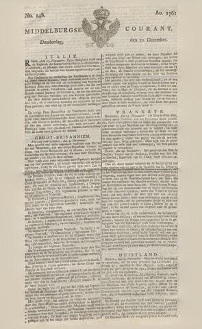 Middelburgsche Courant 1761-12-10