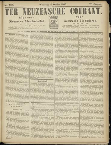 Ter Neuzensche Courant. Algemeen Nieuws- en Advertentieblad voor Zeeuwsch-Vlaanderen / Neuzensche Courant ... (idem) / (Algemeen) nieuws en advertentieblad voor Zeeuwsch-Vlaanderen 1887-10-12