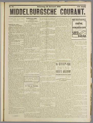 Middelburgsche Courant 1927-01-15
