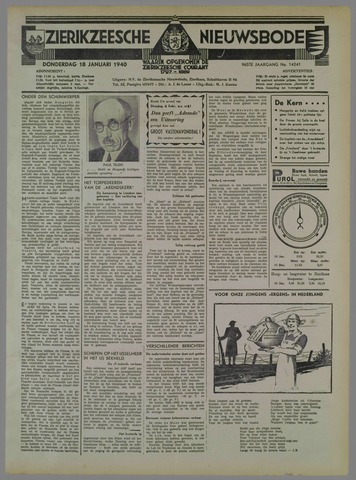 Zierikzeesche Nieuwsbode 1940-01-18