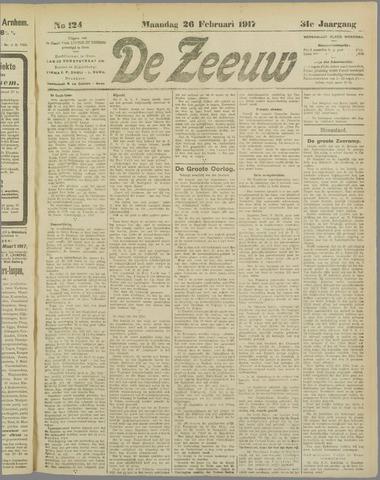 De Zeeuw. Christelijk-historisch nieuwsblad voor Zeeland 1917-02-26