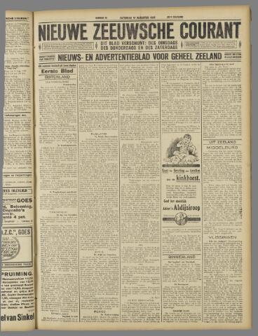 Nieuwe Zeeuwsche Courant 1926-08-14