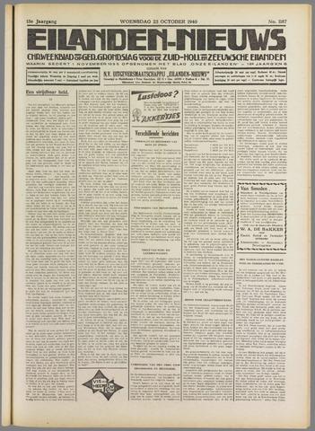 Eilanden-nieuws. Christelijk streekblad op gereformeerde grondslag 1940-10-23