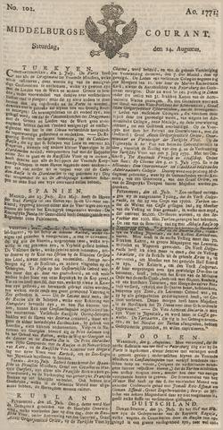 Middelburgsche Courant 1771-08-24