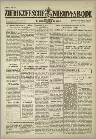Zierikzeesche Nieuwsbode 1958-04-28