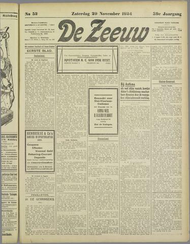 De Zeeuw. Christelijk-historisch nieuwsblad voor Zeeland 1924-11-29