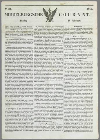 Middelburgsche Courant 1865-02-26