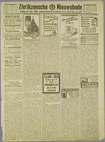 Zierikzeesche Nieuwsbode 1926-12-24
