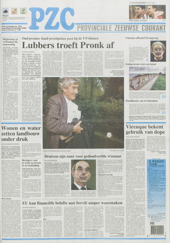 Provinciale Zeeuwse Courant 2000-10-25