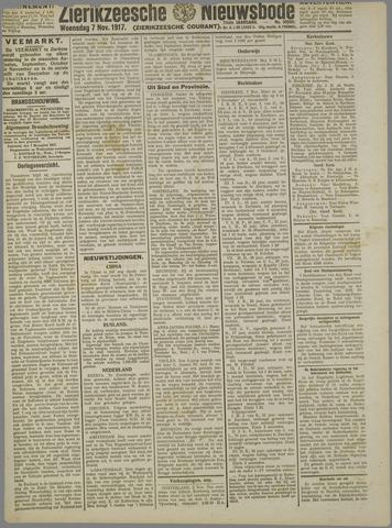 Zierikzeesche Nieuwsbode 1917-11-07