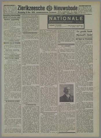 Zierikzeesche Nieuwsbode 1933-11-15
