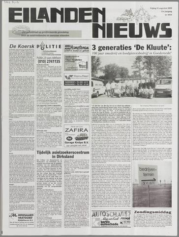 Eilanden-nieuws. Christelijk streekblad op gereformeerde grondslag 2000-08-25