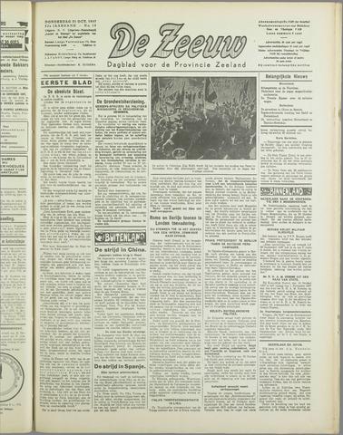 De Zeeuw. Christelijk-historisch nieuwsblad voor Zeeland 1937-10-21