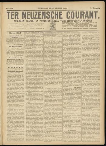Ter Neuzensche Courant. Algemeen Nieuws- en Advertentieblad voor Zeeuwsch-Vlaanderen / Neuzensche Courant ... (idem) / (Algemeen) nieuws en advertentieblad voor Zeeuwsch-Vlaanderen 1933-09-20