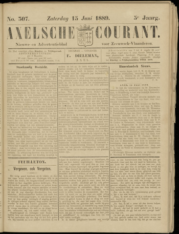 Axelsche Courant 1889-06-15