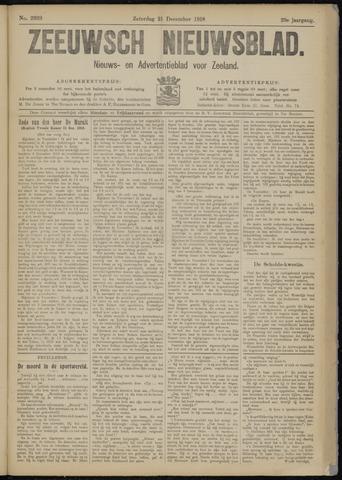 Ter Neuzensch Volksblad. Vrijzinnig nieuws- en advertentieblad voor Zeeuwsch- Vlaanderen / Zeeuwsch Nieuwsblad. Nieuws- en advertentieblad voor Zeeland 1918-12-21
