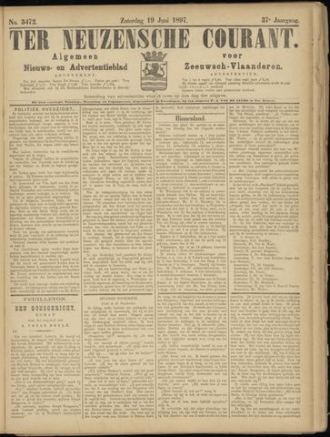 Ter Neuzensche Courant. Algemeen Nieuws- en Advertentieblad voor Zeeuwsch-Vlaanderen / Neuzensche Courant ... (idem) / (Algemeen) nieuws en advertentieblad voor Zeeuwsch-Vlaanderen 1897-06-19