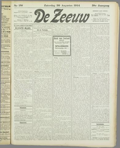 De Zeeuw. Christelijk-historisch nieuwsblad voor Zeeland 1924-08-30