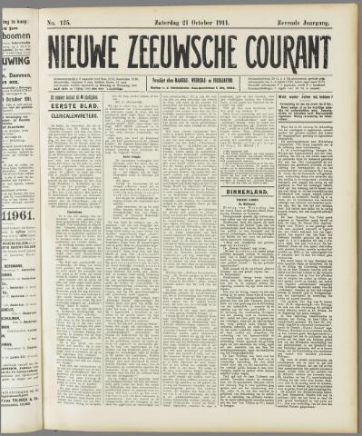 Nieuwe Zeeuwsche Courant 1911-10-21