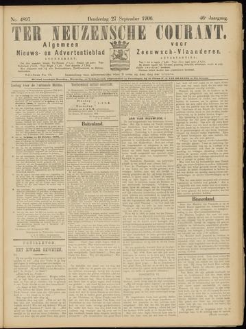 Ter Neuzensche Courant. Algemeen Nieuws- en Advertentieblad voor Zeeuwsch-Vlaanderen / Neuzensche Courant ... (idem) / (Algemeen) nieuws en advertentieblad voor Zeeuwsch-Vlaanderen 1906-09-27