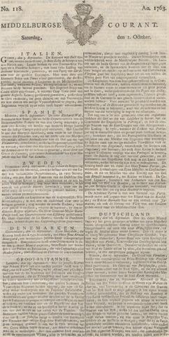 Middelburgsche Courant 1763-10-01