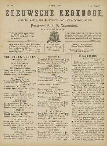 Zeeuwsche kerkbode, weekblad gewijd aan de belangen der gereformeerde kerken/ Zeeuwsch kerkblad 1890-04-05