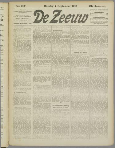 De Zeeuw. Christelijk-historisch nieuwsblad voor Zeeland 1915-09-07
