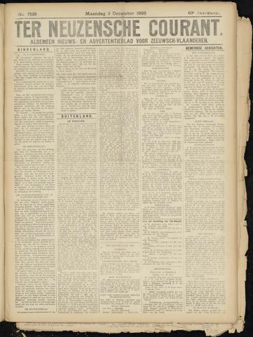 Ter Neuzensche Courant. Algemeen Nieuws- en Advertentieblad voor Zeeuwsch-Vlaanderen / Neuzensche Courant ... (idem) / (Algemeen) nieuws en advertentieblad voor Zeeuwsch-Vlaanderen 1923-12-03