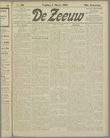 De Zeeuw. Christelijk-historisch nieuwsblad voor Zeeland 1915-03-05
