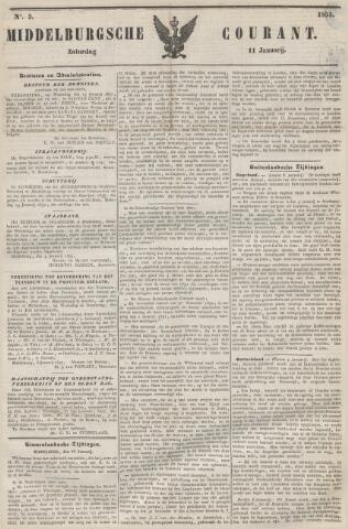 Middelburgsche Courant 1851-01-11