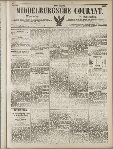 Middelburgsche Courant 1903-09-30