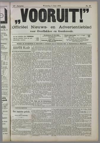 """""""Vooruit!""""Officieel Nieuws- en Advertentieblad voor Overflakkee en Goedereede 1912-06-05"""