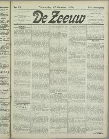 De Zeeuw. Christelijk-historisch nieuwsblad voor Zeeland 1920-10-27
