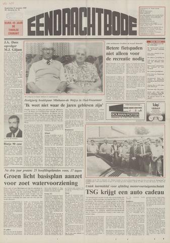 Eendrachtbode (1945-heden)/Mededeelingenblad voor het eiland Tholen (1944/45) 1989-08-31