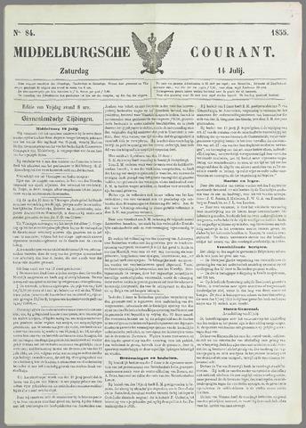 Middelburgsche Courant 1855-07-14