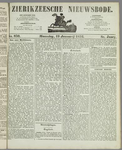 Zierikzeesche Nieuwsbode 1852-01-19